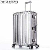 SEABIRD 100% Все Алюминий чемодан Hardside Прокат троллейбусов Дорожный чемодан 20 вести 22 26 30 проверено