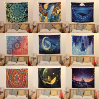 Beautiful Natural Ocean Printed Large Wall Tapestry Cheap Hippie Wall Hanging Bohemian Wall Tapestries Mandala Wall Art C 3.21