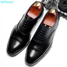 QYFCIOUFU 2019 Lace-up Men Shoes Formal Genuine Leather Business Casual Shoes Men Dress Office Luxury Shoes Breathable Oxfords