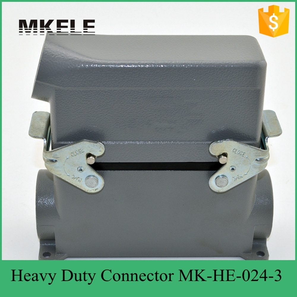 MK-HE-024-3 HE series cheap waterproof male female 24 pin industrial amphenol heavy duty connectors heavy duty connectors hdc he 024 1 f m 24pin industrial rectangular aviation connector plug 16a 500v