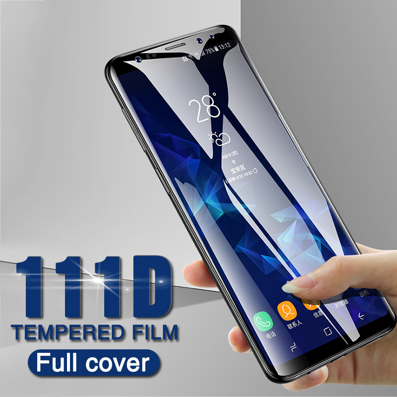 Image 5 - 111D Full Curved Protective glass on for Samsung Galaxy S8 S9 S6 S7 edge Plus Screen Protector Tempered Glass on Note 8 9 Film-in Phone Screen Protectors from Cellphones & Telecommunications