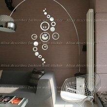Luxury Living Room Wall Clock Muting DIY 3D Crystal Mirror Acrylic Wall Clock Modern Design Home Decoration Clock Wall Stickers