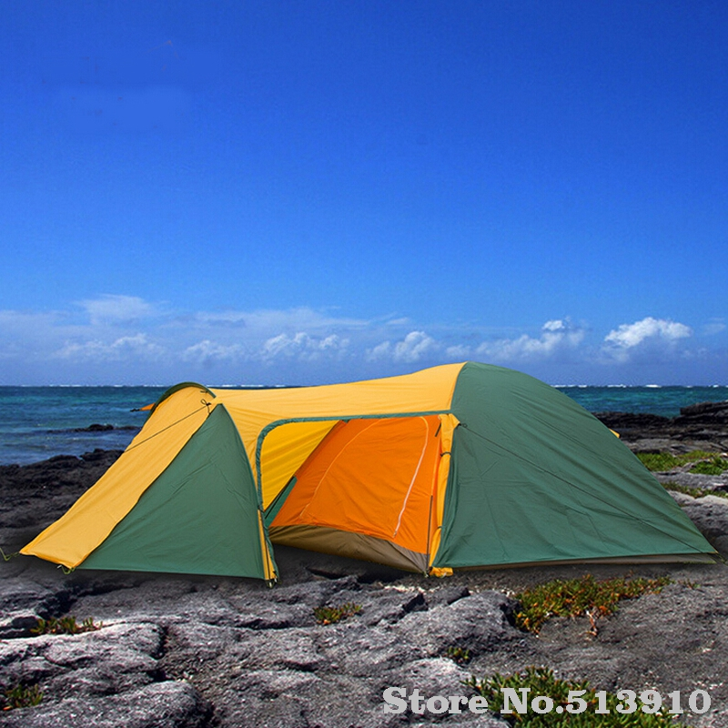 3 4 person outdoor recreation tents Waterproof Double Layer Camping Tent Hiking travel Beach tent Camping equipment