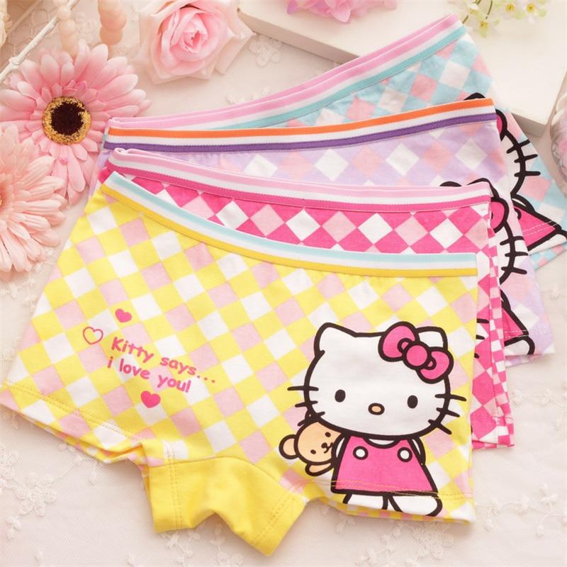 Kids Underwear Calcinha Infantil 4pcs Baby Underwear Kids Panties Child's For Shorts For Nurseries Children's Briefs Cgub 2020
