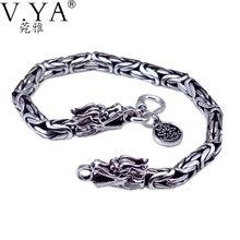 Оптовая продажа из натуральной 100% реального чистый 925 стерлингового серебра толстые мужчины браслет. Дракон браслет. Бесплатная доставка Мужская Fine Jewelry HYB03