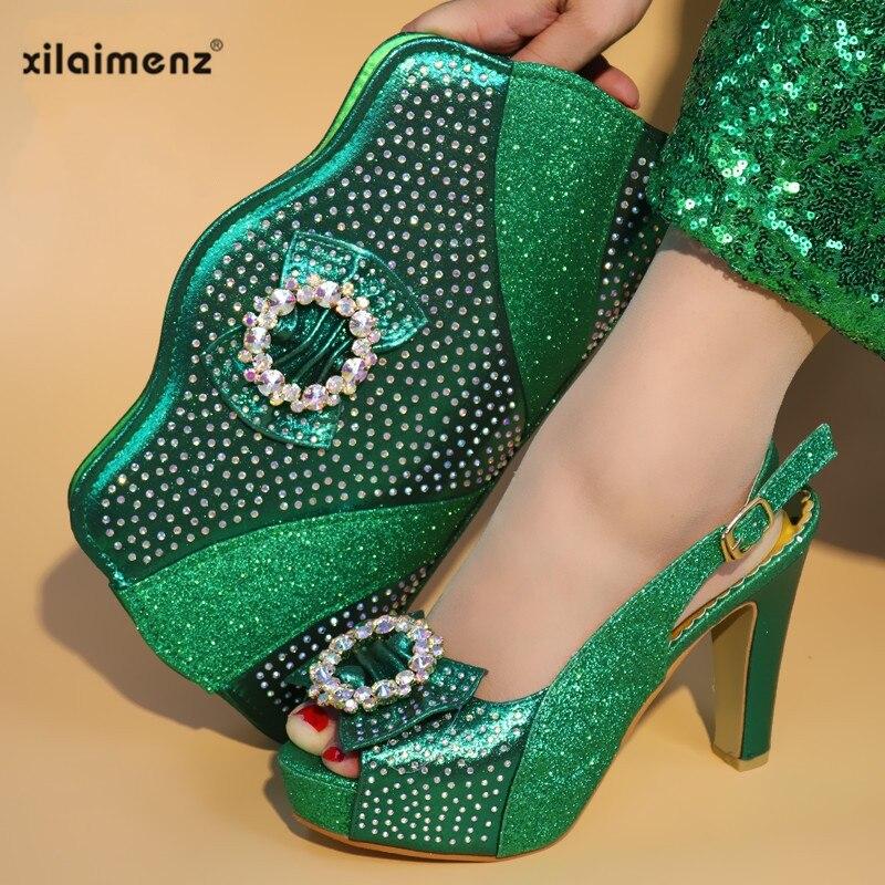 Avec champagne gold Dernières Chaussures Ensemble Sac green Femmes Italien Mis red sliver En Appliques Décoré Blue À Italie Correspondre Sacs Et Sky Pour Champagne wpq1HrnwO