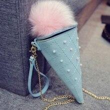 Горячая Распродажа, милые женские сумки с мороженым, женские сумки ярких цветов, мини-монетная сумка для девочек, коническая сумка через плечо для телефона