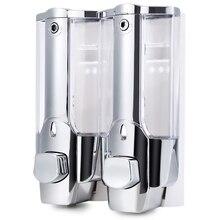High Quality 2 X 350ml Soap Dispenser Wall Mounted Kitchen Bathroom School Soap Dispenser  Lotion Pump Wall Mount