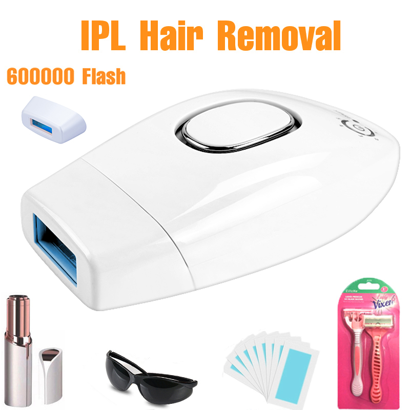 Professional Permanent IPL Epilator 600000 Flash Laser Hair Removal Electric Photo Women Painless Threading Hair Remover Machine