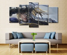 Anime Girls Saber Zero Fate Series 5 Pieces Home Decoration Artwork Decor Picture HD Print Painting Canvas Wall Art