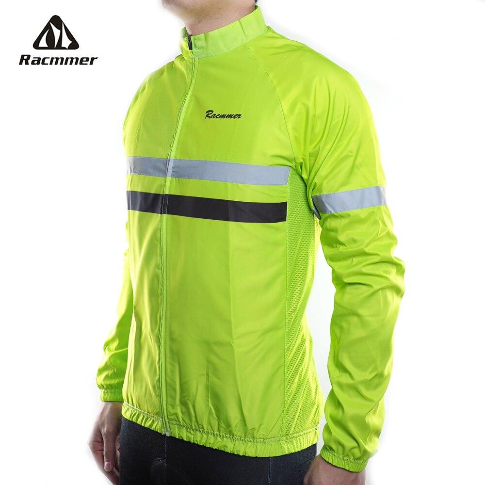 Racmmer 2018 Männer Windjacke Reflektierende Radfahren Jersey Langarm Windstopper Kleidung Fahrrad Bike Winddicht Jacke MTB