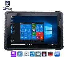 Китай K16H прочный Планшеты PC Окна 10 Home 10.1 «Z8300 жесткие IP67 Водонепроницаемый противоударный Android 4 г LTE отпечатков пальцев RS232 RJ45