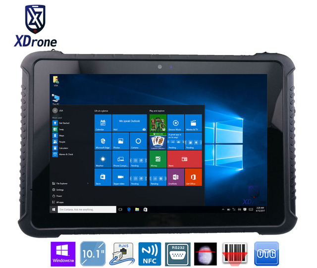 China K16H Rugged Tablet PC Windows 10 home 10.1″ Z8350 Tough IP67 Waterproof Shockproof Android 4G LTE Fingerprint RS232 RJ45