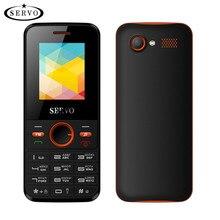 Orijinal SERVO Telefon 1.77 inç Çift SIM Kart GPRS Spreadtrum6531DA Cep Telefonu Titreşim Dış FM Radyo GSM Unlocked cep telefonu