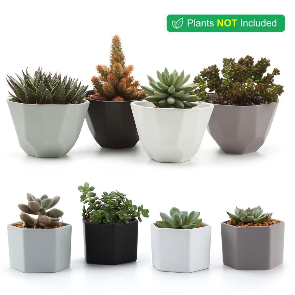 Nordic Decoration Home Ceramic Flowerpot For Cactus Succulent