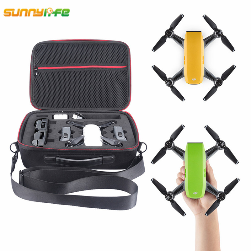 Sunnylife DJI Spark Bag Portable Suitcase Handbag EVA Lining Carrying Case Storage Box for DJI Spark Drone 1pc drone spare parts portable handbag hard case carrying storage bag protector eva for gopro karma g6 gimbal stabilitzer