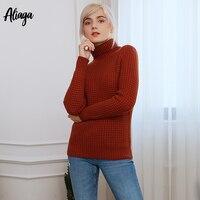 100% коза, кашемир свитер Для женщин пуловер Для женщин джемпер Свитер с воротником женский толстый зимний вязаный свитер большого размера