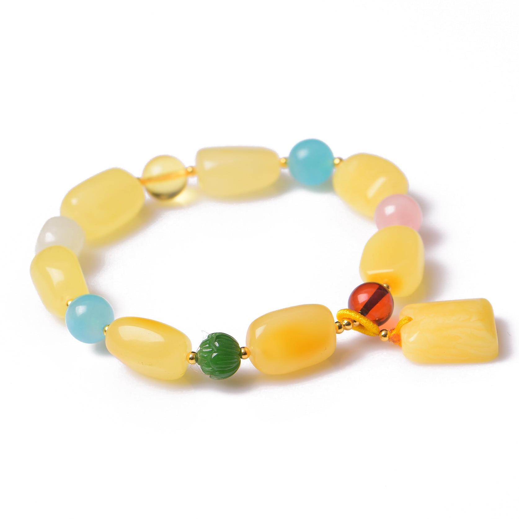 Handmade Authentic Wax Crystal Beads Bracelets