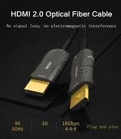 Кабель HDMI 2,0 Высокое Скорость HDMI к HDMI кабеля волокна 10 м 15 м 20 м 25 м HDMI 2,0 4k 1080P 3D 4 К для PS3 проектор Apple ТВ