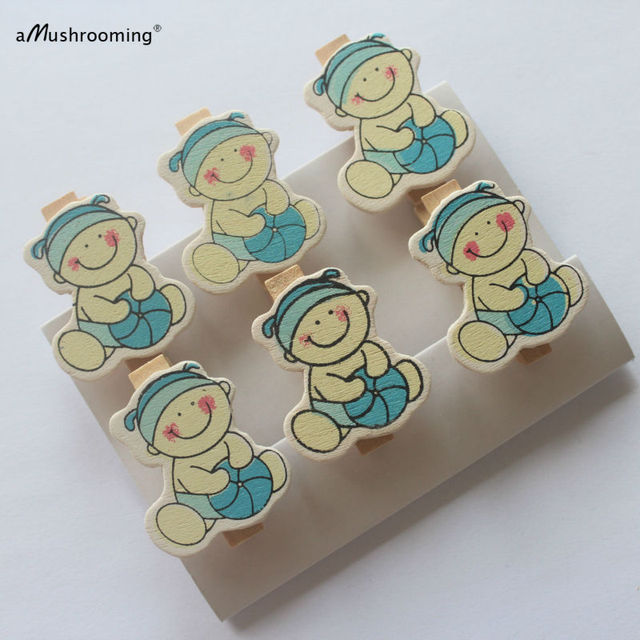 24 Baby Shower Pins Shower Favors Clothespins Baby Boy Its A Boy