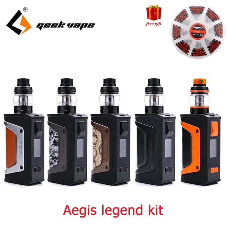 Vape kit Geekvape Aegis Leggenda Kit alimentato da due batterie 18650 Geekvape aegis 200 w leggenda box mod Aero maglia bobina Serbatoio