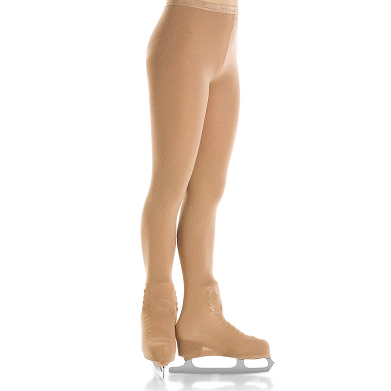 Thermal Figure Skating Tights Footed For 115 To 175cm Height Pantyhose Pants For Children And Adult