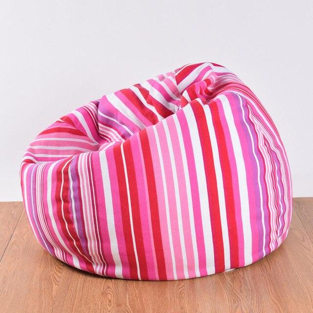 Dancebear Cotton Stripe Garden Bean Bags Chair Outdoor Bean Bag Chairs  Without Filling 80x90CM