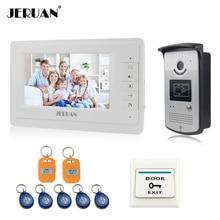 JERUAN Home 7 LCD monitor Speakerphone font b intercom b font Color Video Door Phone doorbell