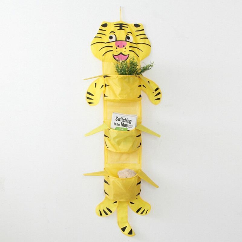 Cute Animal Collapsible Toy Storage Organizer Folding: Cute Cartoon Animal Style Multifunction Hanging Storage