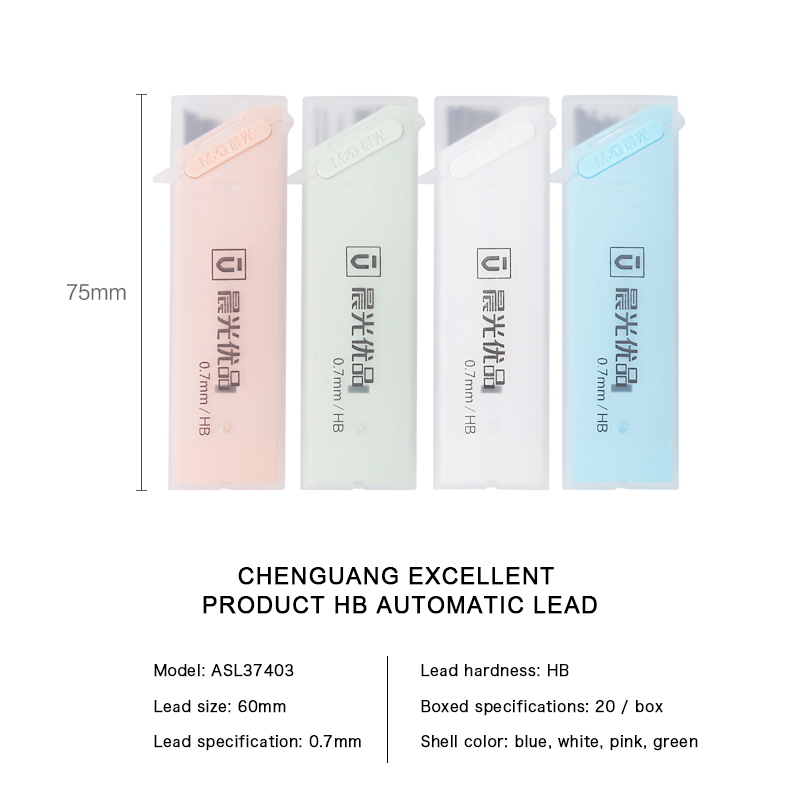 0 5 0 7mm Colorful HB Mechanical Pencil Lead Refills Drawing Sketch Automatic Pencil Rod School Supplies Color Random ASL37403 in Mechanical Pencils from Office School Supplies