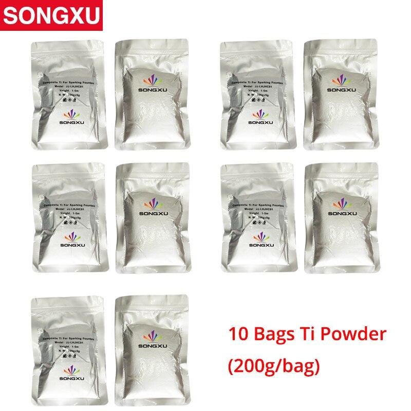 10 Bags Ti Powder 200g/bag For Cold Spark Firework Machine Wedding Sparkular Machine Titanium Powder Save 50-70%