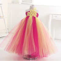 Princess Girl S Ball Gown Tutu Dress Flower Fairy Floral Birthday Wedding Party 6 Colors Flower