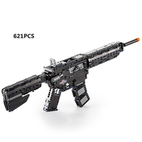 Cool modern military M4A1 carbine Rubberband gun building block model bricks assemblage toys collection for boys gifts
