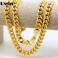 10mm 30 Mens Chain Cuban Chain Necklace Flat 8 Cuts Chain Gold Color Jewelry Party Daily Wear Mens Fashion Iced Out Chain