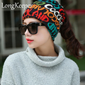 Fashion Korean Women Men Beanie Autumn Winter Wool Warm Hat Scarf Knitting Skull Hairbands Bonnet Hiver
