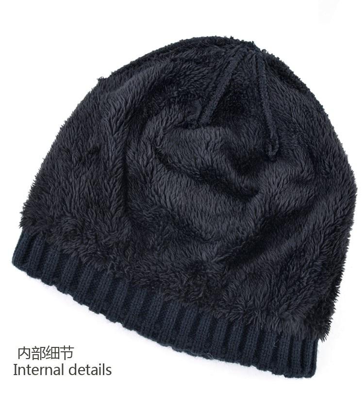 2017 de Malha de lã chapéus para homens chapéu de inverno menino ... 4e501b1c95a