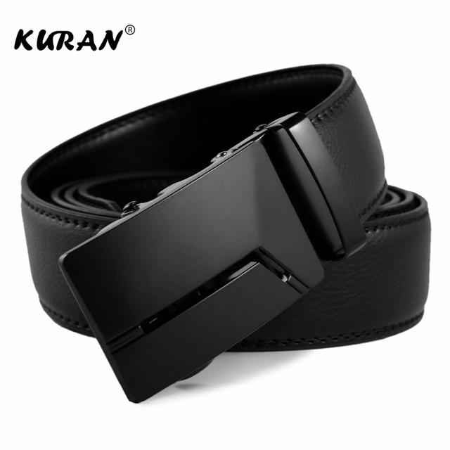 KURAN Designer Luxury Real Leather Men's Belt 1
