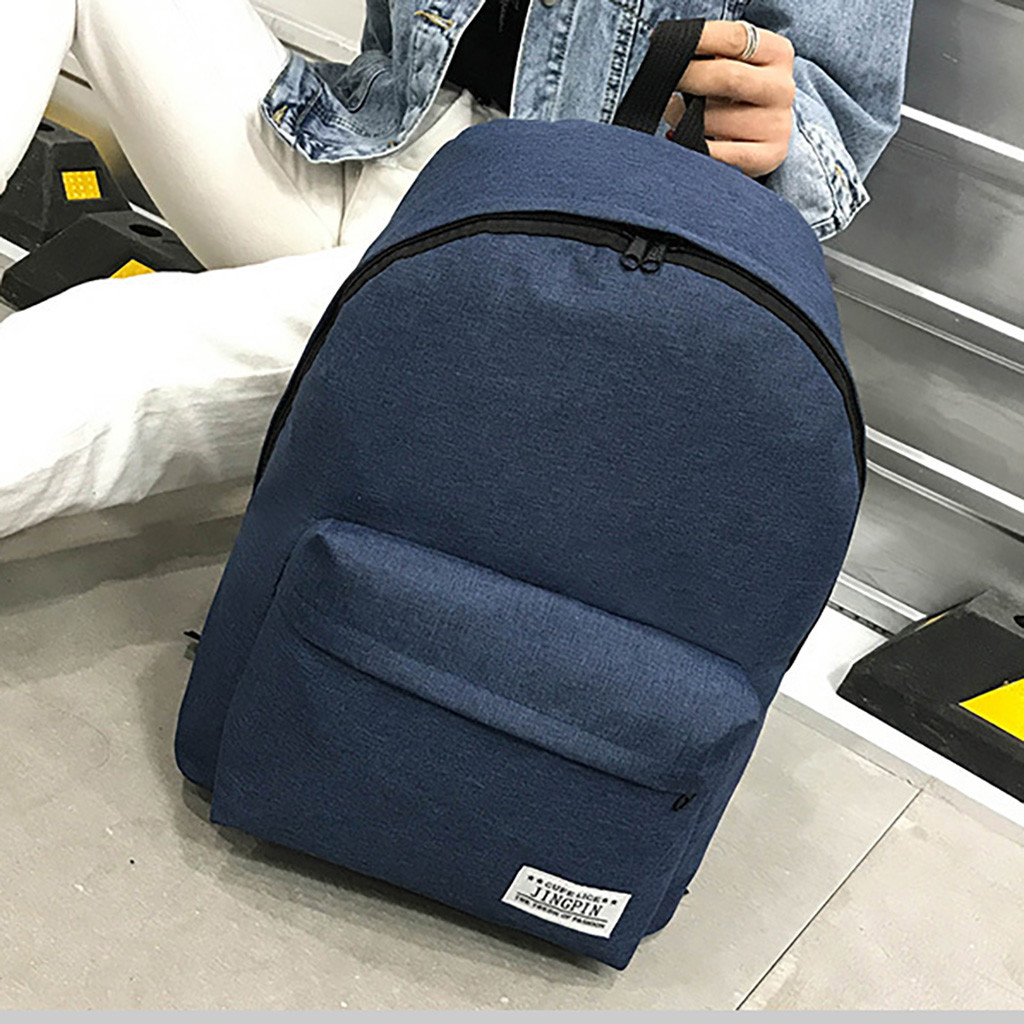 MUQGEW Classical Simple Canvas Women Backpacks School Bag For Teenagers Girls Student Book Laptop Back Pack Travel Mochila