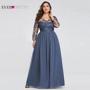 Image 1 - حجم كبير فستان عروس من أي وقت مضى جميلة EZ07633 أنيقة ألف خط الدانتيل يزين رداء حفلات طويلة 2020 Vestido De Madrinha