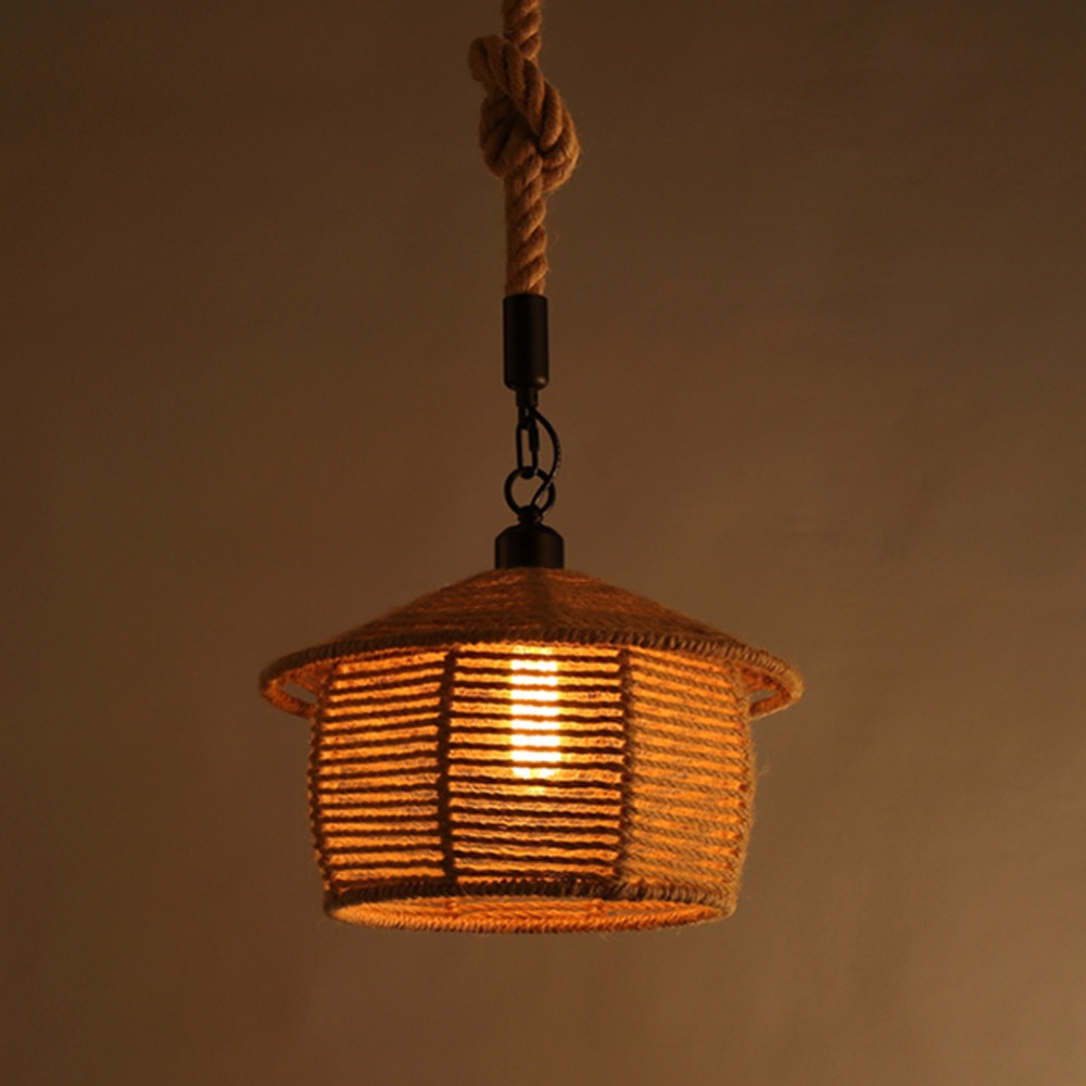 American Country Wrought Iron Droplamp Loft Rope Creative Personality Retro Bar Restaurant Cafe Bar Pendant Light american country to do the old wrought iron loft retro bar stool wood sub circular bar chairs chair cafe bar
