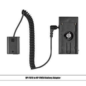 """Image 4 - Andoer NP F970 à NP FW50/EN EL15/LP E6 câble de ressort dadaptateur de plaque de montage de batterie factice avec vis de 1/4"""""""