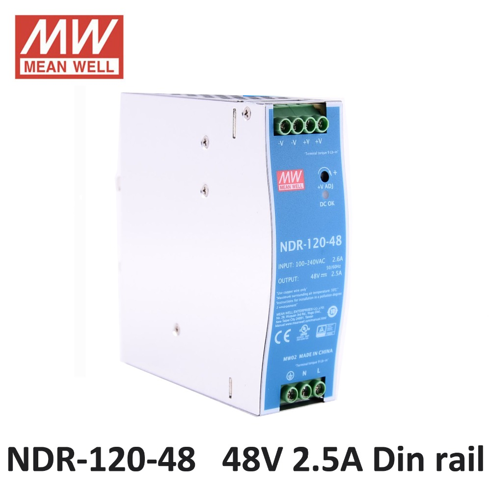 48VDC laboratory power supply MEAN WELL NDR 120 48 Single