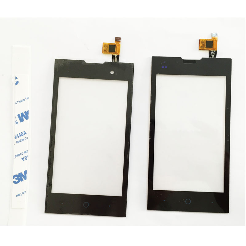 10 Pcs/lot, Touch Panel For Fly IQ4418 era style 4 IQ 4418 Digitizer Touch Screen Sensor Front Glass Lens Black Color