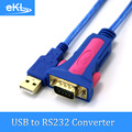 EKL USB to RS232 Converter Adapter cable USB 2.0  DB9 9 Pin Serial COM Port Convertor For Windows