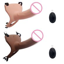 Wearable Strap On Dildos 10 Frequency Removable Dildo Pants Wireless Remote Control Vibrator For Women Lesbian Couples