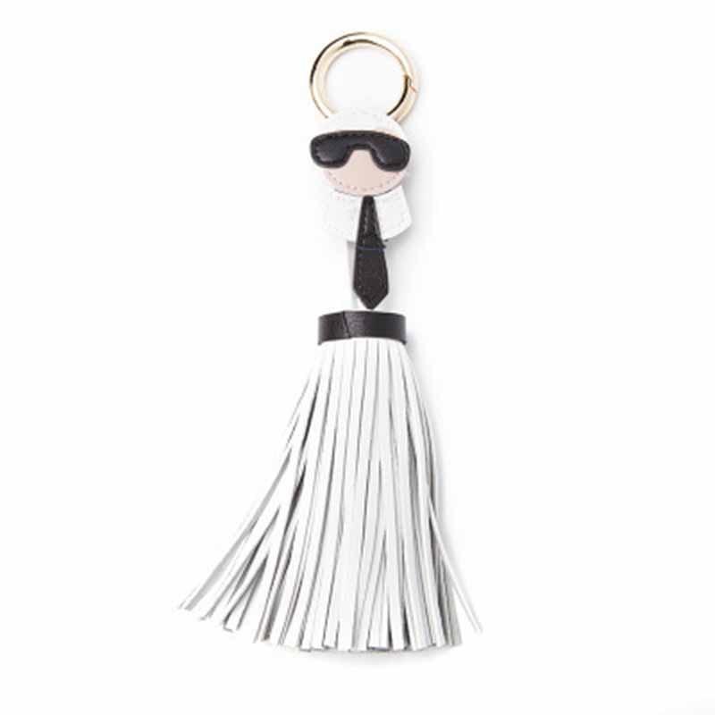 2019 Reflective Fringe PU Leather Tassel Keychains Rhodium Key Holder Metal Key Chain Keyring Charm Bag Auto Car Key Ring