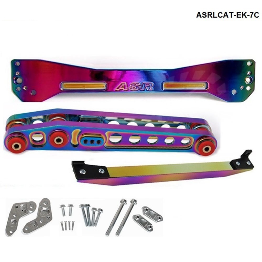 Neo chromatic Rear Subframe Brace +TIE BAR+Rear Lower Control Arm For Honda Civic EK TK-ASRLCAT-EK7C epman neochrome rear subframe brace tie bar rear lower control arm for honda civic acura rsx si ep3 es ep asrlcatn es 7c