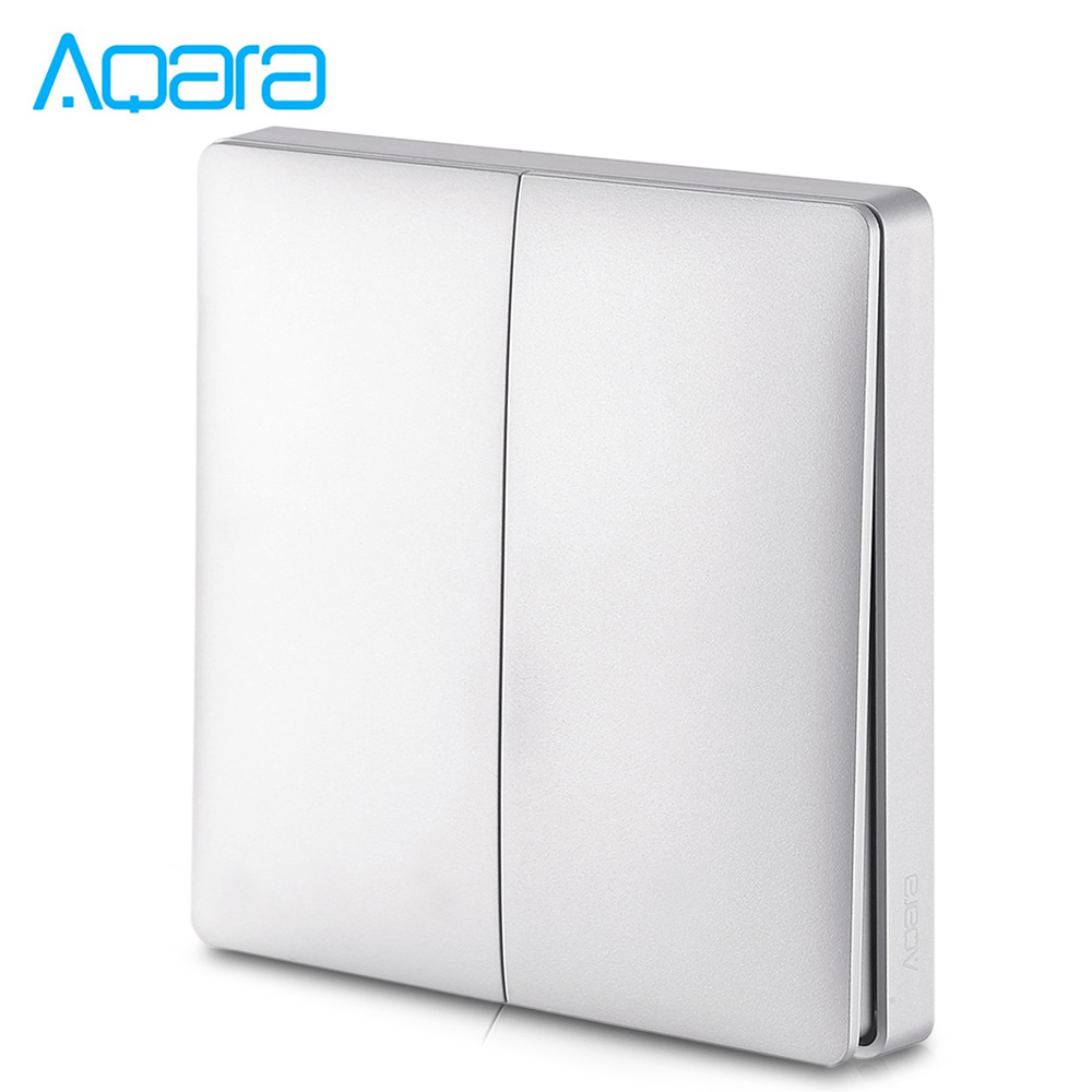 Aqara Wall Intelligent Linkage Light Control Switch Panel Zero Fire Double Key Version ( Xiaomi Ecosystem Product )