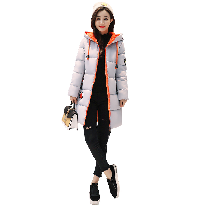 Winter Jacket Women Hooded Thicken Coat Female Fashion Warm Outwear Down Cotton-padded Long Wadded 2017 New Jacket Coat Parka new winter jacket women 2017 fashion slim medium long cotton padded hooded parka female wadded jacket outwear winter coat cm1728