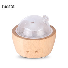Ultrasonic Aroma Diffuser Air Humidifier มินิ Essential Oil Diffuser น้ำมันหอมระเหยสำหรับ Home แก้วไม้ 90ml LED LIGHT(China)